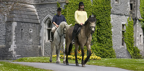 Riding at Ashford Castle Hotel