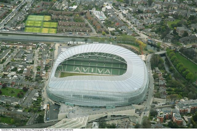 Aviva Stadium in Dublin, Ireland