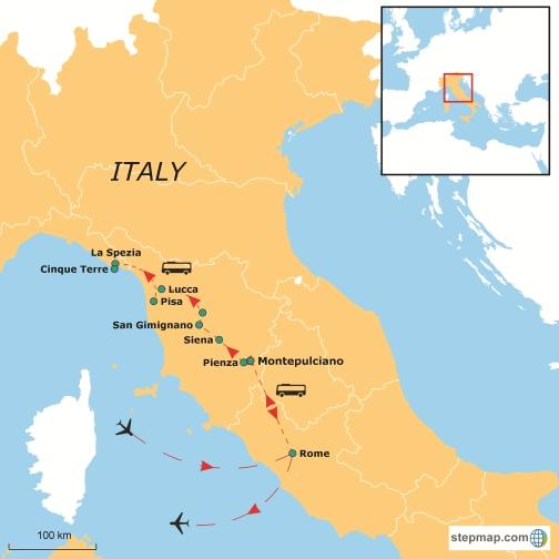 Italian Flavors with Rome Siena  La Spezia