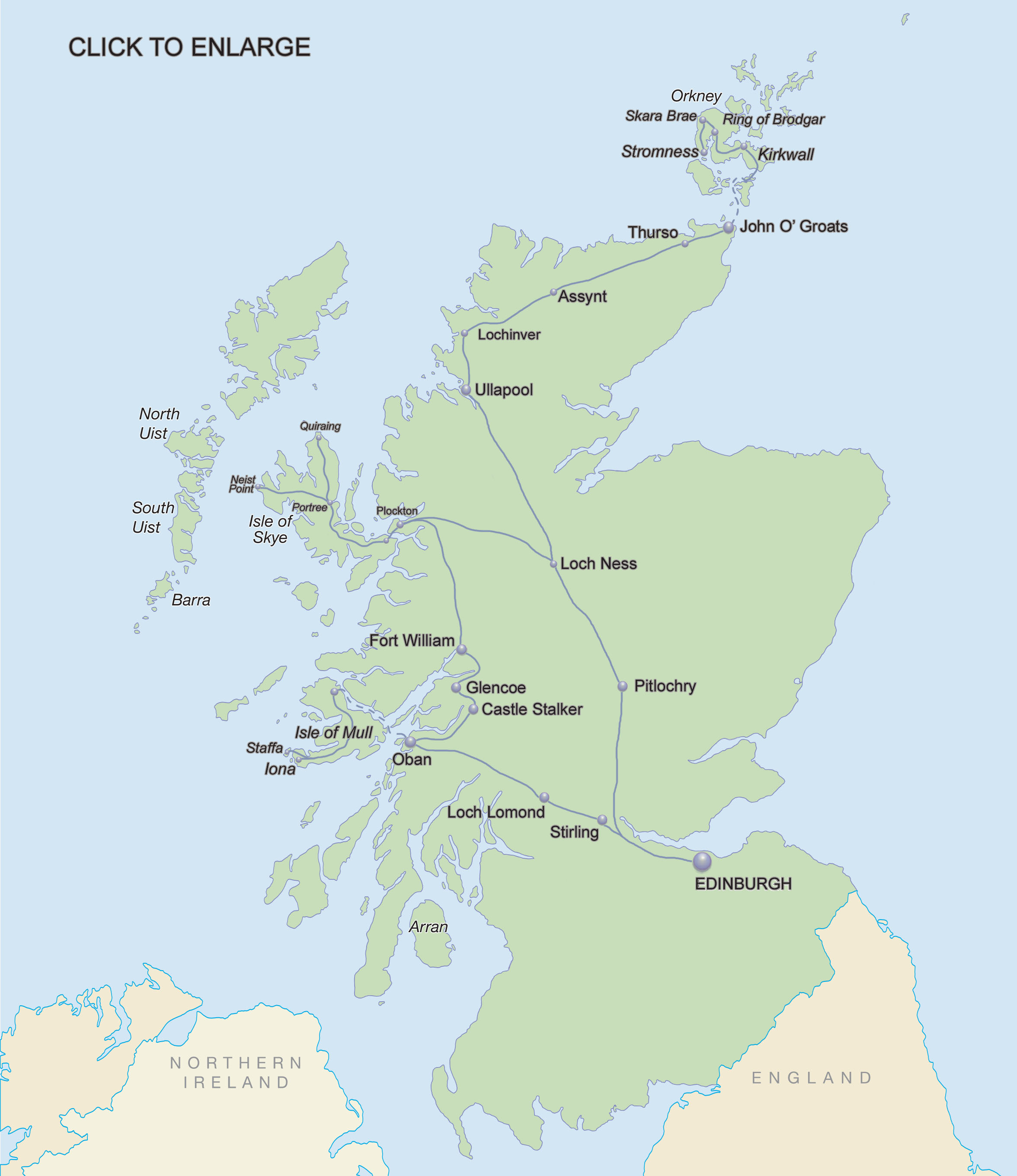 Scottish Islands Highlands  featuring Iona Skye Mull and Orkney